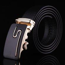 袋鼠  新款商务休闲自动扣皮带男士S字母腰带男青年皮带