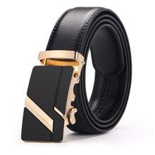 袋鼠  新款商务休闲自动扣头层皮带商务休闲男士皮带男式皮带