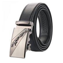 袋鼠  新款合金扣头皮带男士商务休闲自动扣猎豹扣头腰带裤带
