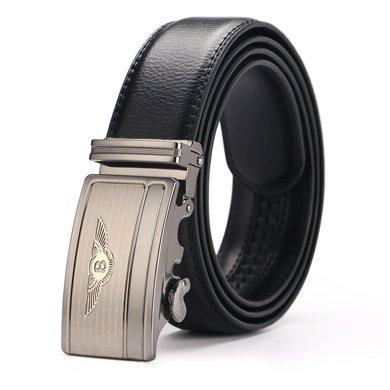 袋鼠  新款商務休閑男士皮帶自動扣皮帶賓利圖案扣頭腰帶褲帶
