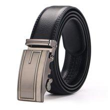 袋鼠 新款G字母图案自动扣头层皮带商务休闲男士皮带男式皮带