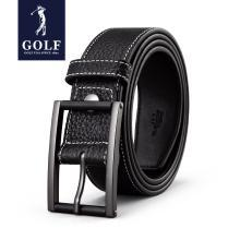 GOLF/高尔夫男士头层牛皮复古针扣男款裤带男士真皮皮带腰带男 P814819AA