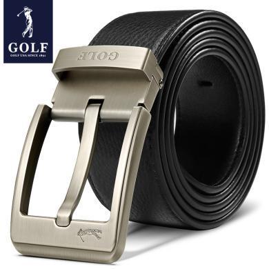 高尔夫GOLF男士皮带头层牛皮青年针扣裤带腰带中年休闲皮带男真皮 P701980