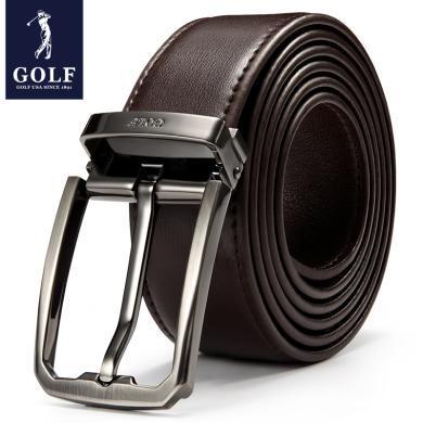 高爾夫GOLF男士皮帶男百搭針扣褲腰帶商務休閑百搭褲帶韓版皮帶  P5GF82914T