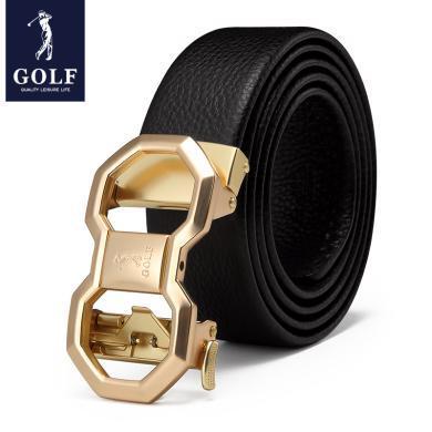 高爾夫GOLF男士頭層牛皮自動扣皮帶柔軟耐磨腰帶商務休閑禮盒裝 P9GF34991T