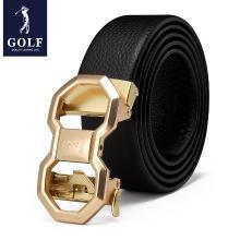 高尔夫GOLF男士头层牛皮自动扣皮带柔软耐磨腰带商务休闲礼盒装 XX-P9GF34991T