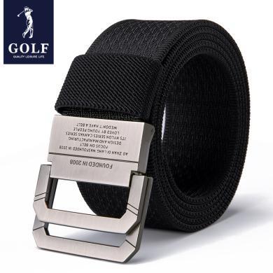 GOLF/高爾夫腰帶男士女士皮帶休閑簡約雙環扣褲帶韓版青年學生 P855922