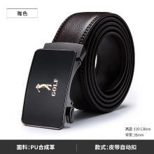 GOLF/高尔夫男士皮带潮自动扣腰带休闲中年轻人青年商务牛皮裤带 P834877