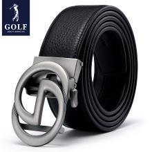 GOLF/高爾夫新款男士都市休閑經典簡約頭層牛皮自動扣男士皮帶禮盒男式腰帶 P934977