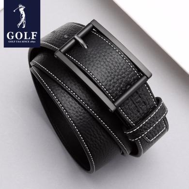GOLF/高爾夫男士頭層牛皮復古針扣男款褲帶男士真皮皮帶腰帶男 P814819AA