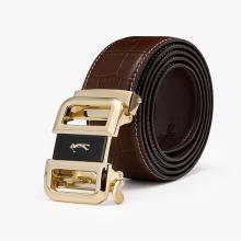 高爾夫GOLF男士真皮自動扣皮帶時尚鱷魚紋頭層牛皮商務腰帶禮盒裝 X-P9GF34990T