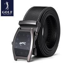 高爾夫GOLF皮帶男士鐘表時尚扣頭耐磨頭層牛皮腰帶合金自動扣商務褲帶 P934914