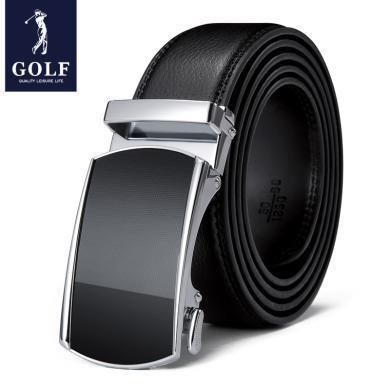 高爾夫GOLF自動扣皮帶男士牛皮商務休閑褲帶百搭送禮禮盒裝腰帶男 P934910