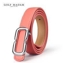 高尔夫GOLF女士板扣皮带牛皮腰带潮流休闲时尚细腰带 E8GF26997F