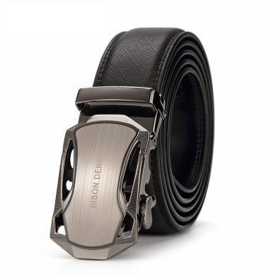 美洲野牛新潮合金跑車型扣頭腰帶休閑商務風格好搭自動扣皮帶N71303
