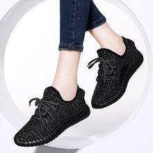 古奇天伦平底单鞋春季新款休闲跑步运动鞋学生潮鞋韩版女鞋子TL/8437