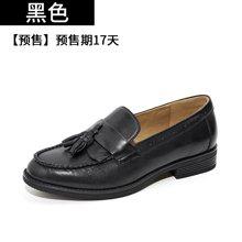 BEAU乐福鞋女布洛克女鞋英伦风流苏单鞋平底牛津鞋复古小皮鞋27067