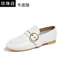 BeauToday女鞋秋单鞋休闲平底乐福鞋新款皮鞋英伦风复古欧美27076