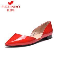 富贵鸟女鞋单鞋 女低跟鞋尖头鞋  K76G626-1