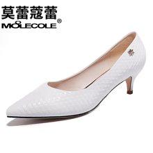莫蕾蔻蕾2018新款中跟浅口舒适女单鞋新款细跟时尚女鞋  70006