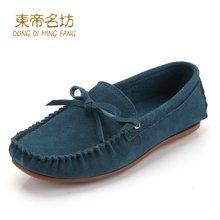 东帝名坊豆豆鞋女四季妈妈鞋舒适平底单鞋休闲鞋孕妇鞋韩版大码女鞋 D36TH116