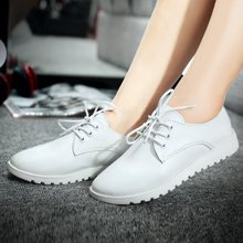 女鞋英倫超軟皮鞋低幫鞋樂福鞋系帶板鞋小白鞋X1513
