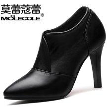 莫蕾蔻蕾新款女鞋欧美尖头细跟套脚高跟鞋百搭女单鞋 72395
