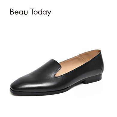 BeauToday 新款女鞋春秋季小皮鞋平底休闲英伦风单鞋乐福鞋27089
