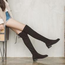 如熙秋冬季新款過膝長靴女高筒平底5050彈力靴子韓版瘦瘦百搭182DXJK4568