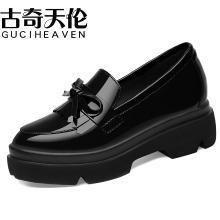 古奇天伦 春夏新款小皮鞋女鞋英伦女鞋子新品学生韩版百搭中跟粗跟鞋单鞋女 TL/8900