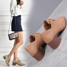 潮牌英伦风粗跟单鞋女新款复古小皮鞋韩版百搭仙女网红女鞋DX86200
