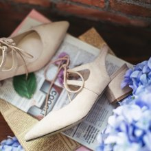如熙春季新款單鞋女鞋綁帶涼鞋尖頭淺口粗跟高跟鞋韓版潮鞋子R16XLLD164496