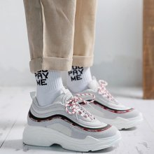MIJI红人联名新款韩版ulzzang运动鞋女春新款ins超火学生松糕鞋厚底鞋子SH3597