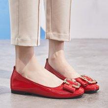 鞋子女新款韩版百搭秋季奶奶鞋女仙女浅口休闲女士平底单鞋LP882-1