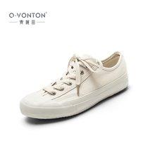 青婉田硫化胶底文艺帆布鞋女新款小白鞋ins板鞋女街拍硫化鞋K18QD0976
