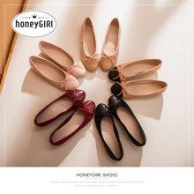 honeyGIRL春新款小香风低跟单鞋仙女的鞋中跟粗跟鞋子女鞋HG18FA111XT856