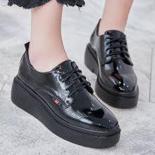 新优雅时尚系带女士休闲鞋深口中跟单鞋学院风小皮鞋女YP686