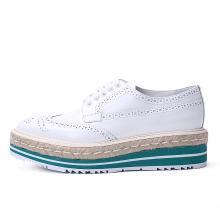 [支持購物卡]PRADA/普拉達女鞋 繩索裝飾厚底鞋奢侈品 1E722E