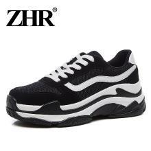 ZHR新款厚底老爹鞋松糕运动鞋平底休闲鞋ins超火的鞋子女增高
