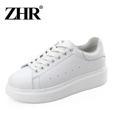 ZHR百搭小白鞋基礎休閑板鞋韓版平底單鞋新款春季厚底女鞋子
