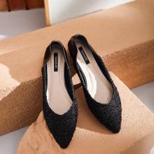 honeyGIRL2019春季新款复古单鞋平跟鞋女尖头平底鞋休闲懒人鞋子HG19SP53-XT191