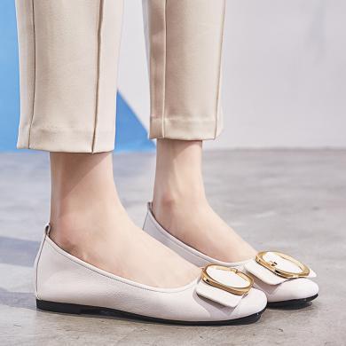 媽媽鞋新款平底奶奶鞋防滑豆豆鞋軟底女鞋平跟休閑鞋LP882-8
