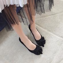 如熙春季新款蝴蝶結淺口單鞋高跟細跟溫柔百搭網紅鞋子女181CDOS5109