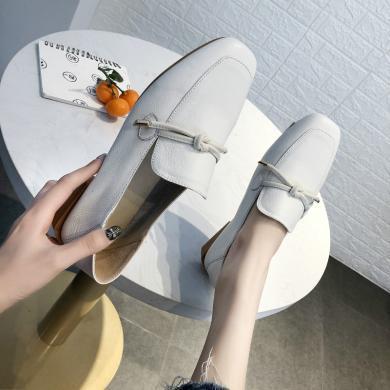 搭歌2019春季新款乐福鞋女头层牛皮女鞋韩版平跟小皮鞋女鞋MB2677