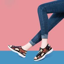 搭歌2019夏季新款百搭简约时尚凉鞋休闲厚底沙滩鞋女鞋MO9287