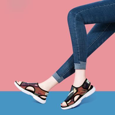 搭歌2019夏季新款百搭簡約時尚涼鞋休閑厚底沙灘鞋女鞋MO9287