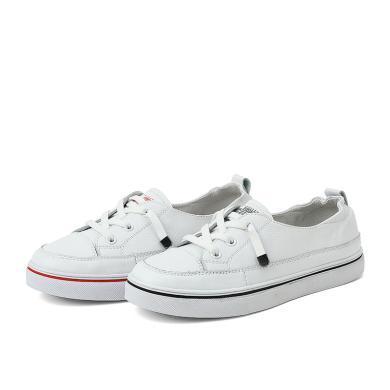 百田森 新款小白鞋女平底懶人透氣圓頭百搭韓版休閑鞋PZJ19533