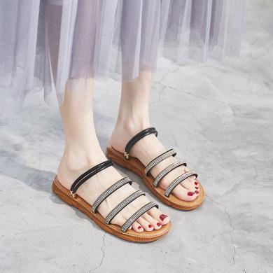 新款平底涼鞋兩穿夏季涼拖仙女度假風女鞋FYD0602-1