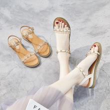 新款厚底坡跟涼鞋女防水臺夏季涼鞋仙女鞋FYD0508-1