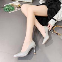 新款四季女鞋氣質通勤優雅細跟女鞋高跟單鞋女DX96120